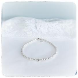 Mama armband  met initiaal | Livia | Zilver
