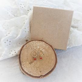 Oorbel met geboorte- of edelsteen   Gold filled