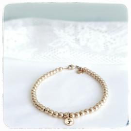 Mama armband goud met initiaal | Jill