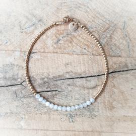 Mama armband goud & Maansteen | Evelien