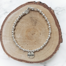 Mama armband met naam | Saar | Zilver