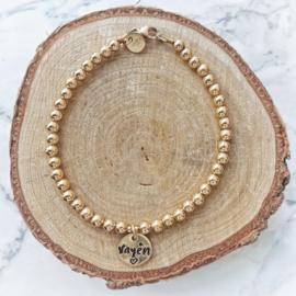 Mama armband goud met naam | Jill