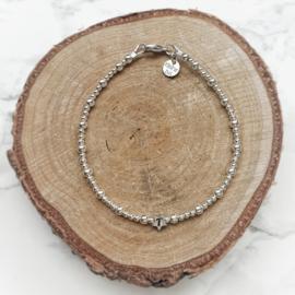 Mama armband met initiaal  | Keet | Zilver
