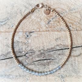 Armband goud & Labradoriet | Vivianne