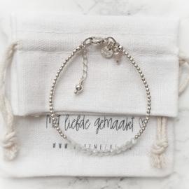 Mama armband zilver & Maansteen | Maaike
