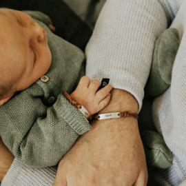 Papa armband met naam   Sjoerd