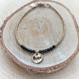 Mama armband goud met naam | Tessa