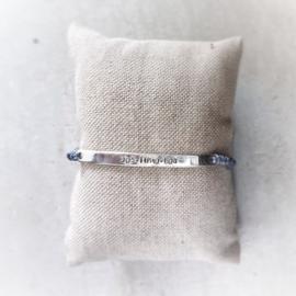 Mama armband met naam groot | Suus | Zilver