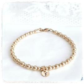 Mama armband goud met initiaal | Saar