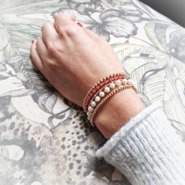 Set armbandjes goud | Boho