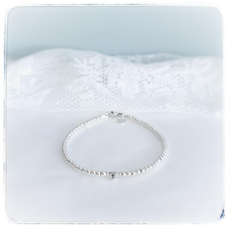 Mama armband zilver met initiaal | Livia