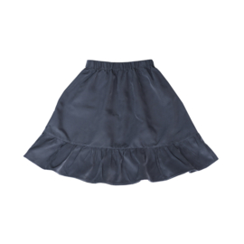 Midi Ruffle Skirt Midnight Blue
