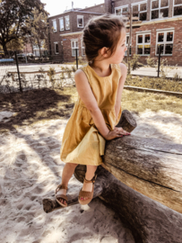 Golden Linen Dress