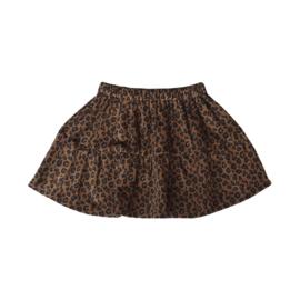 Ruffle Skirt Leopard Cinnamon Stick