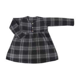 Button Dress Black/Camel