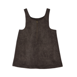 Corduroy Pinafore Dress Cacao Brown