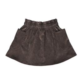 Corduroy Pocket Skirt Cacao Brown
