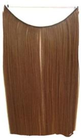 Synthetische flip in extension / bruin #12 / 55 cm