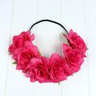 Haarband / Halo summer /  Roze bloemen