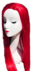 Pruik / Rood lang haar  / 80 cm