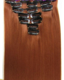 Synthetische clip in hair extension set / #30  / 60 cm