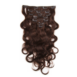 Clip in hair extension set bruin #2 / 120 gram / 50 cm