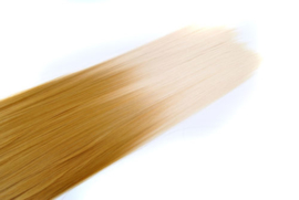 Synthetische clip in hair extension set / Ombre blond #27-613 / 60 cm