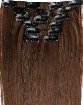 Synthetische clip in hair extension set / Mixed #2/30 / 60 cm