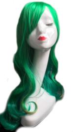 Pruik / Mixed groen - Denver look / 70 cm