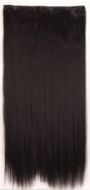 Clip in hair extension baan / zwart / 76 cm
