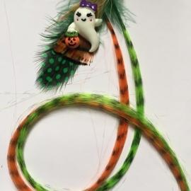 Halloween / feather extensions spook / KIES JOUW FAVORIETE KLEUR