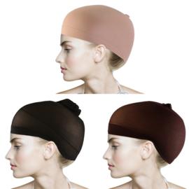 Haarnetje voor pruik /Wit - huidskleur - bruin - zwart