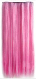 Clip in hair extensions strook / licht roze / 55 cm