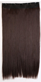 Clip in hair extension baan / Bruin M4 / 76 cm