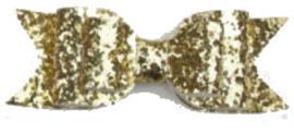 Haarspeld / Gouden glitter strik - Shiny star