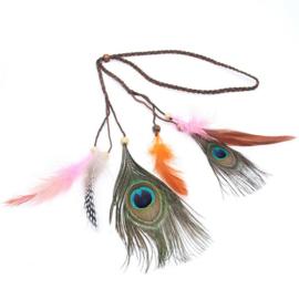 Haarband feathers / Boho festival night / veren haar