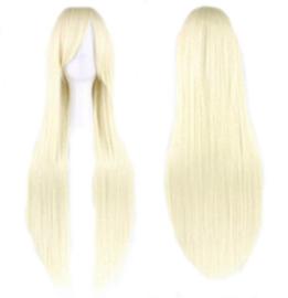 Pruik / Lang blond haar / 80 cm