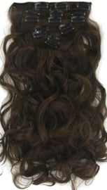 Synthetische clip in hair extension set / Mixed golvend  #2/30 / 60 cm