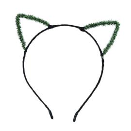 Haarband / miauw kat groene oren