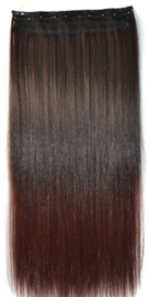 Clip in hair extension strook / Ombre #1b-33 / 60 cm