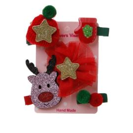 Haarspeldjes / 5 kerst kinder haarspeltjes / Glitter love