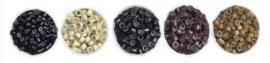50 micro beads feathers / knijpringen veren