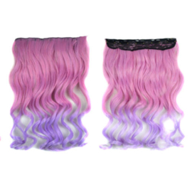Clip in hair extension strook / Ombre pastel - my little pony / 50 cm