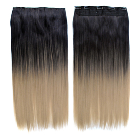 Clip in hair extensions strook / ombre 1/24# / 66 cm