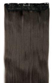 Clip in hair extensions baan / Koffie zwart #2  / 76 cm