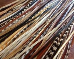 Maat M: 10 natural feather extensions + 20 micro beads / 10 natuurlijke veren extensions