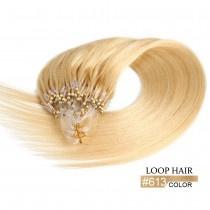 50 loop extensions / blond #613 / 0,5 gram / synthetisch + echt haar