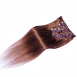 Clip in hair extensions set aubergine #30 / 70 gram / 50cm