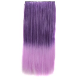 Clip in hair extensions strook / Ombre paars / 60 cm