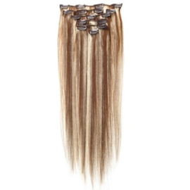 Synthetische clip in hair extension set / Mixed / 55 cm